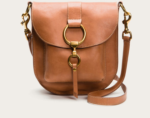 FRYE Ilana Saddle Bag in Tan