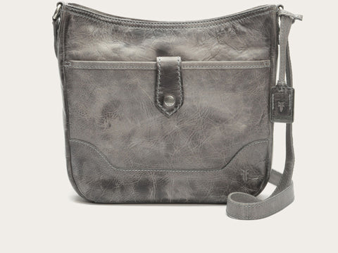 FRYE Melissa Button Crossbody in Ice Gray