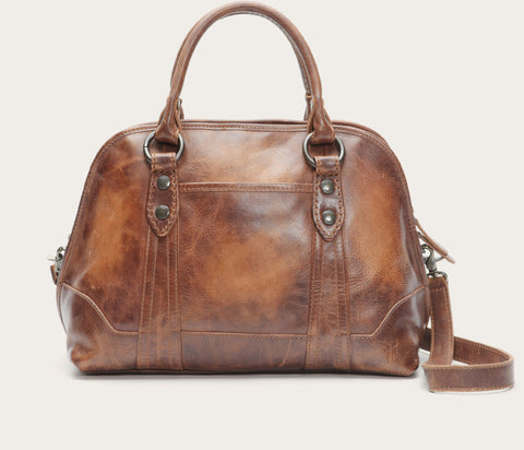 FRYE Melissa Domed Satchel in Cognac