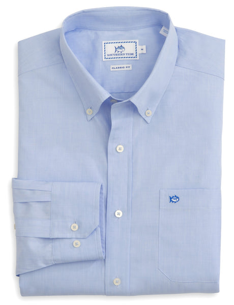 Southern Tide Sullivan Solid Sport Shirt in Sail Blue