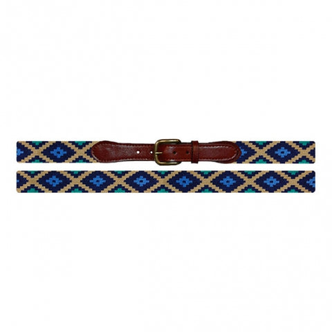 Smathers & Branson Gaucho Needlepoint Belt in Dark Khaki