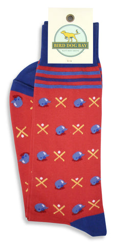 Bird Dog Bay Batter Up Socks in Red