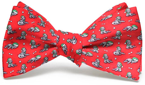 Bird Dog Bay Santa Paws Bow Tie in Red