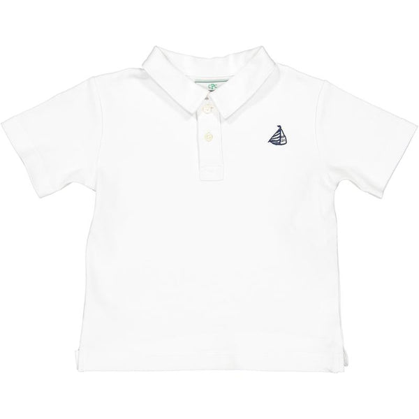 CPC Henry Boys Polo Shirt in White
