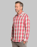 True Grit Road House Checks Long Sleeve Shirt in Red