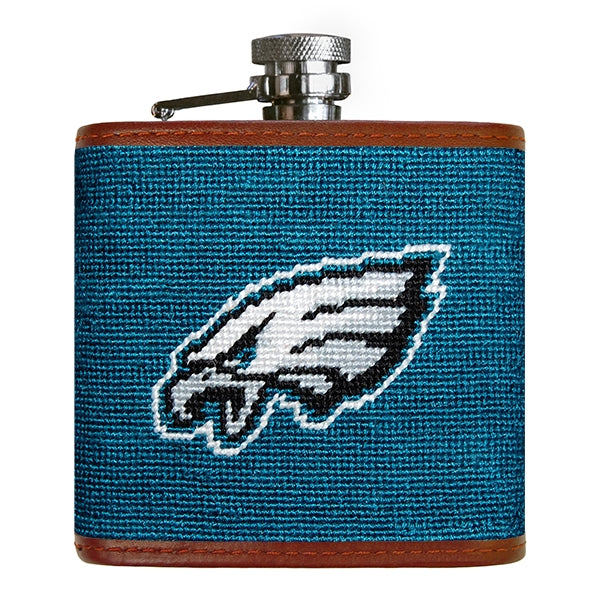Smathers and Branson Philadelphia Eagles Flask in Dark Turquoise