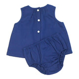 CPC Cotton Pique Sophie Sunsuit in Navy