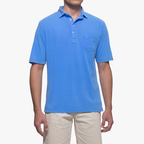 Johnnie-O Garment Dyed Oiginal Polo in Neon Blue
