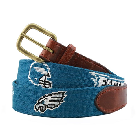 Smathers & Branson Philadelphia Eagles Super Bowl Belt in Turquoise