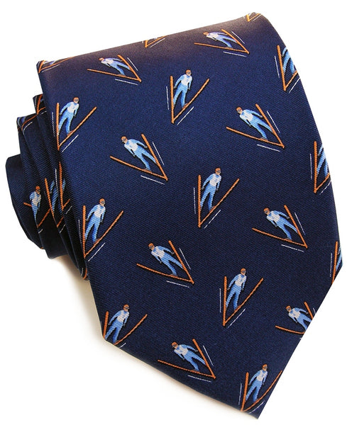 Ski Jump Necktie in Navy