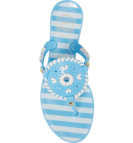 Jack Rogers Striped Georgica Jelly in French Blue/White