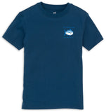 Southern Tide Youth Skipjack Tee in Yacht Blue
