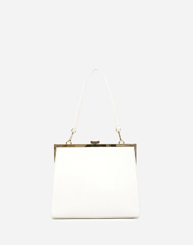 Neely & Chloe The Frame Bag in White