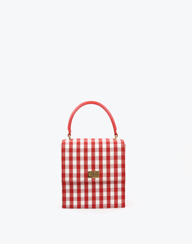 Neely & Chloe The Mini Lady Bag in Scarlet Gingham