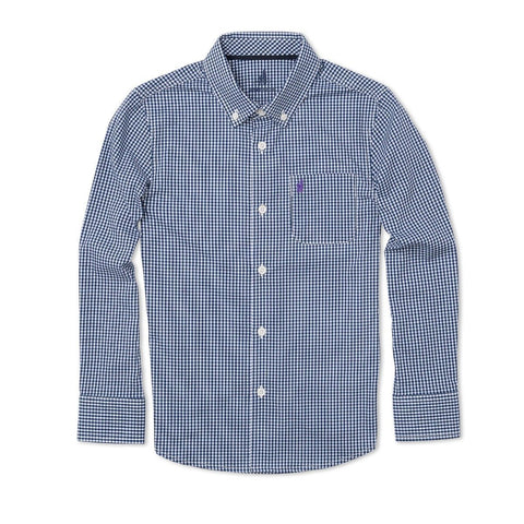 Johnnie-O Augusta Boys Button-Down Shirt in Abyss