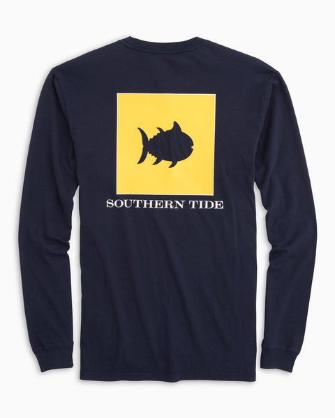 Southern Tide Nautical Flag T-Shirt in True Navy