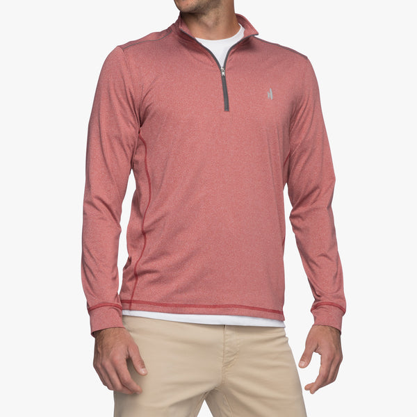 Johnnie-O Lammie Performance 1/4 Zip in Cranberry