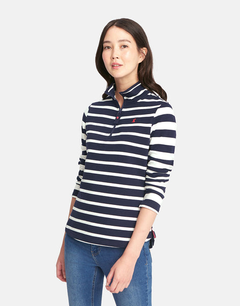 Joules Fairdale Half Zip Sweatshirt in Navy Stipe