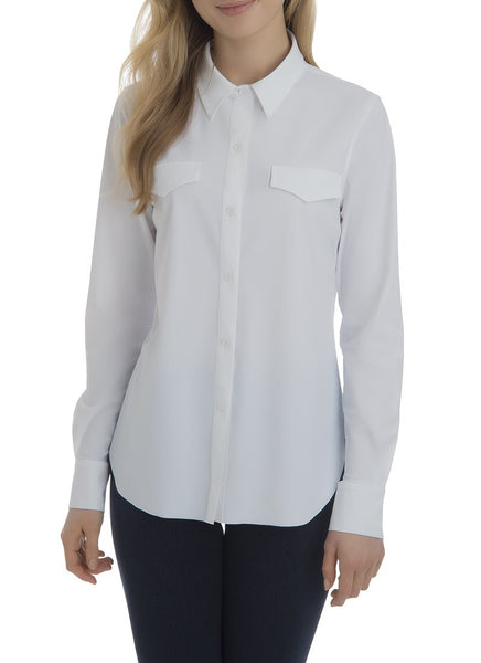 Lysse Brinkley Button Down In White