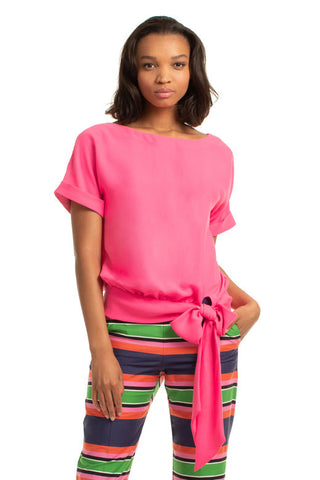 Trina Turk On The Rocks 2 Top in Hot Pink