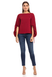 Anna Cate Amelia Top in Merlot