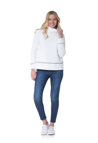 Sail to Sable Cowl Neck Pullover in Ivory