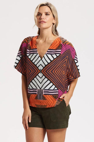 Marie Oliver Amie Blouse in Watercolor Weave