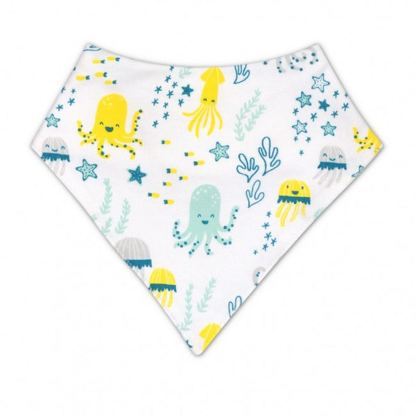 Apple Park Sea Life Print Bandana Bib