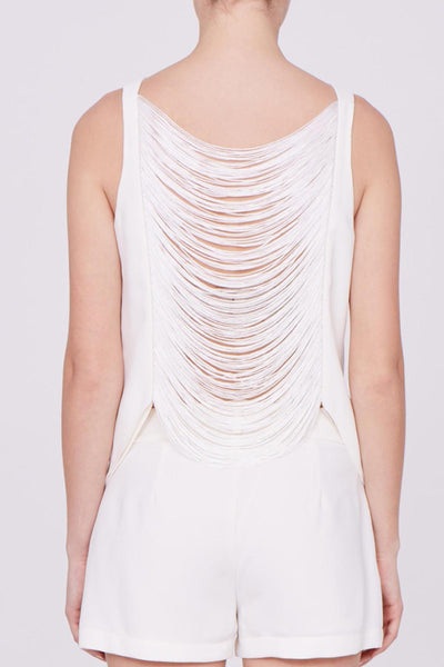 Amanda Uprichard Giana Tank in Ivory