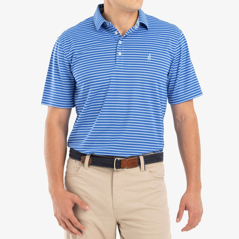 Johnnie-O Linus Prep-Formance Striped Polo in Marlin