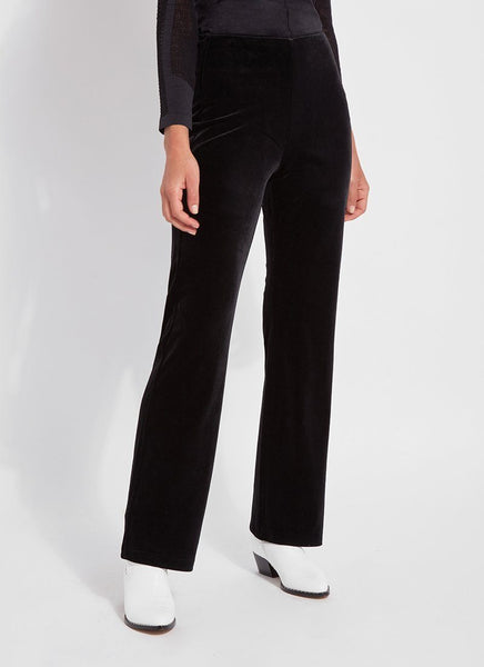 Lysse Velvet Pant in Black
