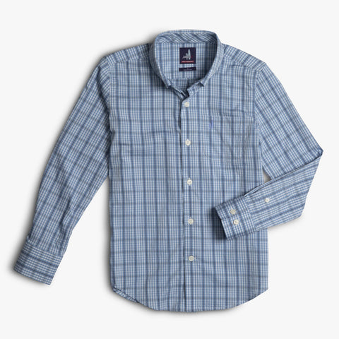 Johnnie-O Billie Jr. Prep-Formance Button Down Shirt In Gulf Blue
