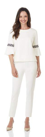 Jude Connally Lucia Ponte Pants in Cream