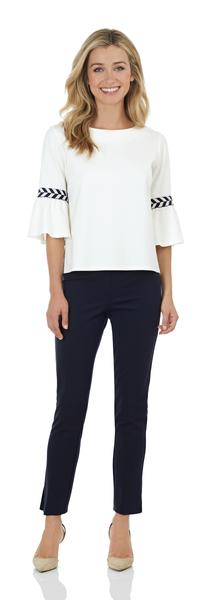 Jude Connally Dixie Top in Cream/Navy