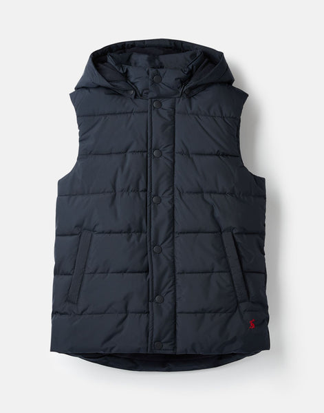 Joules Karlsen Padded Vest in Navy