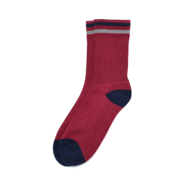 American Trench Kennedy Sock In Maroon/Navy