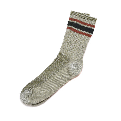 American Trench Merino Activity Sock In Olive/Rust