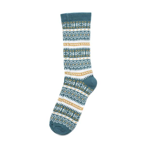 American Trench Women's Fair Isle Sock In Teal
