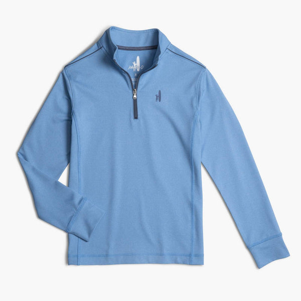 Johnnie-O Jr. Lammie 1/4 Zip Pullover in Pool