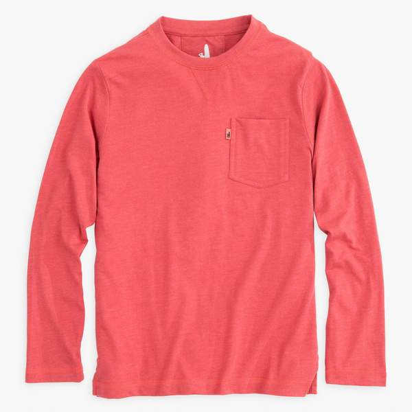 Johnnie-O Matty Jr. Long Sleeve T-Shirt in Malibu Red