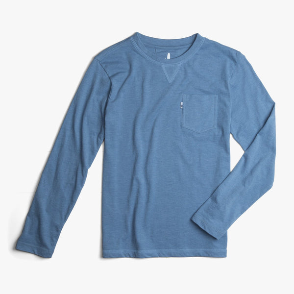 Johnnie-O Matty Jr. Long Sleeve T-Shirt in Pacific
