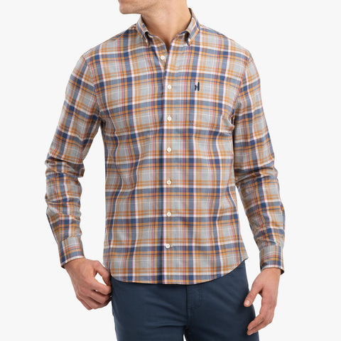 Johnnie-O Evanston Button Down Shirt in Light Gray