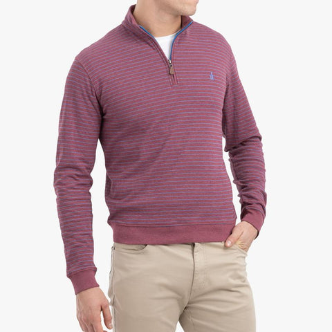 Johnnie-O Emmett 1/4 Zip Pullover in Scarlet