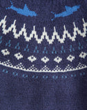 Joules Nordic Frederik Fairisle Sweater in Navy Knit