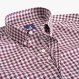 Johnnie-O Louis Woven Sport Shirt in Cranberry