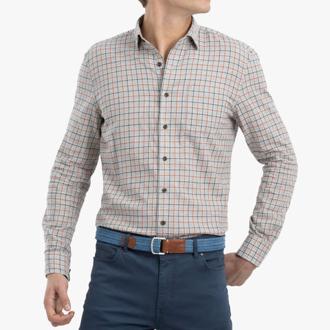Johnnie-O Eastwood Button Down Shirt in Light Gray