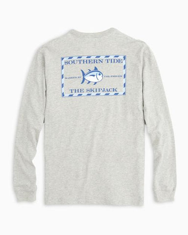 Southern Tide Heathered Original Skipjack T-Shirt in Grey