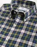 Southern Tide Dasher Plaid Sportshirt in Green and Blue Plaid