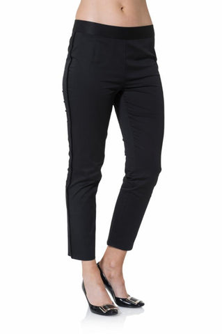 Sail To Sable Stretch Cotton Pants In Black