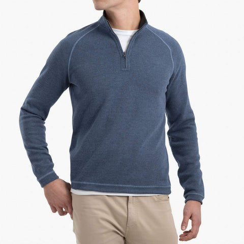Johnnie-O Turner 1/4 Zip Pullover in Twilight